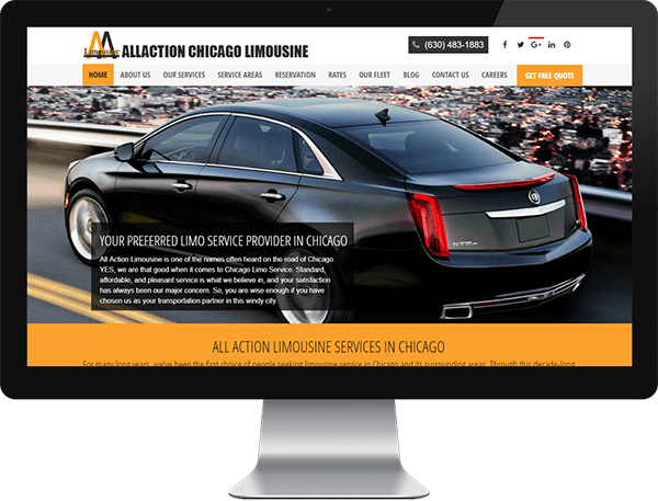 Allactionlimousine Website After