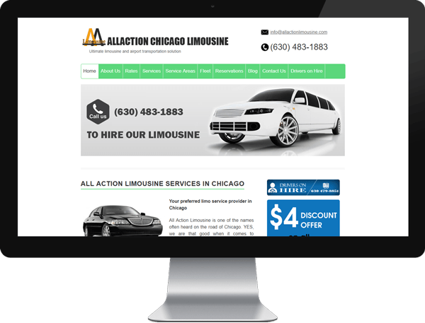 Allactionlimousine Website Before